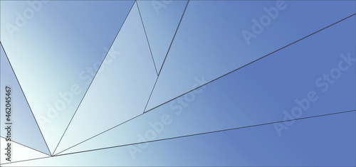 Photo Blue Abstract Geometric Background