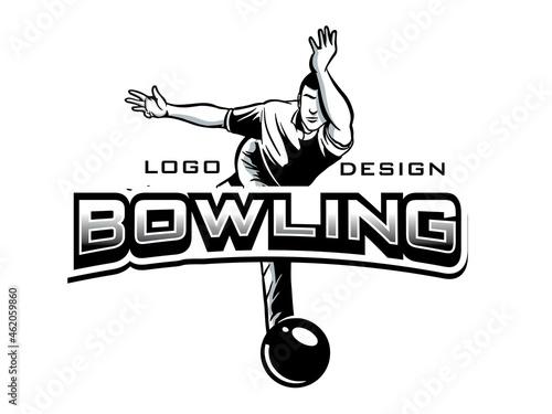 vector set of bowling logos, emblems and design elements Fototapeta