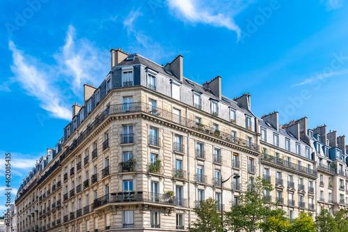 Tablou Canvas Paris, typical building boulevard Parmentier, in the 11th arrondissement, typica