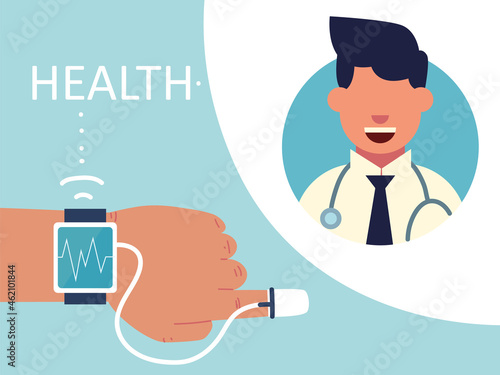 Valokuva health with wearable technology