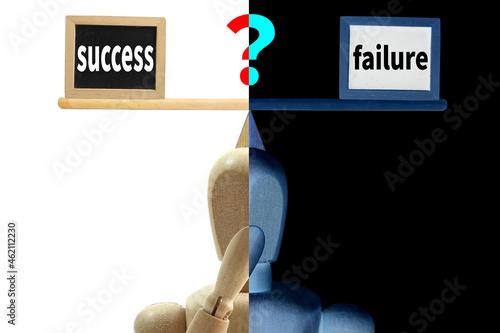 Obraz na plátně Success and failure