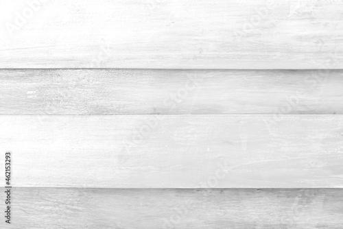 Fototapeta Light grey wood plank wall patterns on  horizontal background
