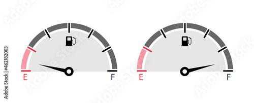 Photo Set of fuel gauge scales