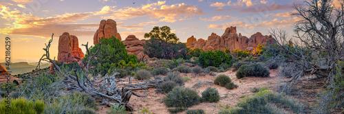 Fotografiet Arches National Park  at sunrise