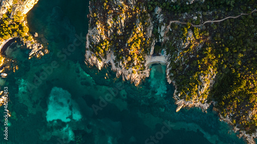 Fotografiet spectacular hidden cove on an island in the mediterranean sea