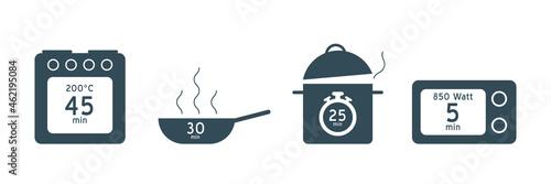 Obraz na plátně Meal Timer logo design