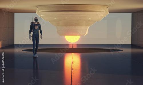 Obraz na plátně Robot futuristic background