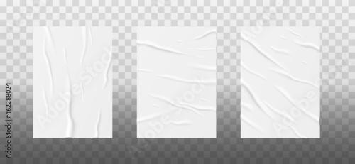 Photo Wrinkled paper sheets set