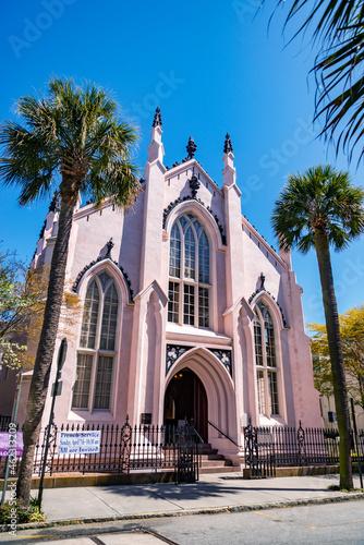 Canvas Print Huguenot Church in Charleston, South Carolina