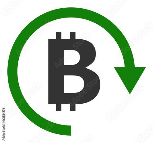 Fotografia, Obraz Bitcoin repay vector illustration