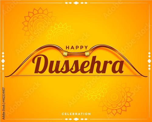 Obraz na plátně happy dussehra festival wishes card background