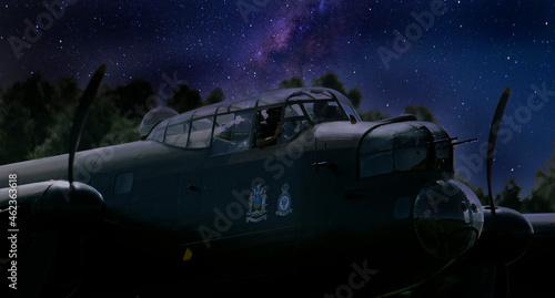 Billede på lærred The Avro Lancaster is a British Second World War heavy bomber