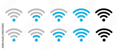 Tela Wi-Fi or Wlan vector icons set