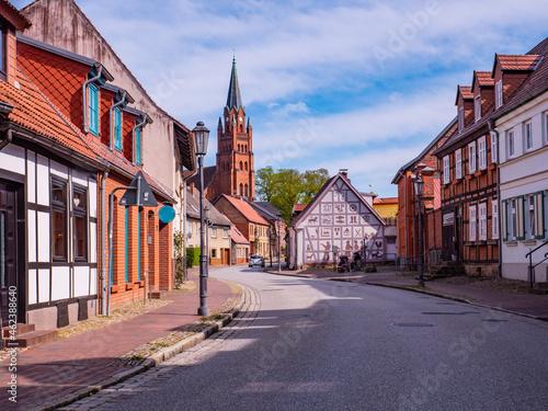 Fototapeta Old town of Roebel on the Mecklenburg Lake District