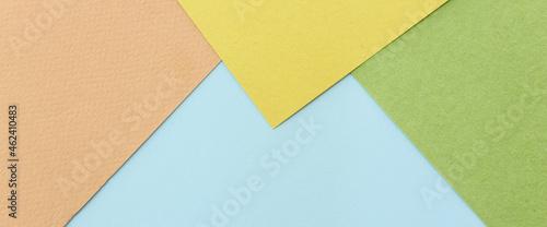 Fotografie, Obraz Pastel paper background with geometric stripes
