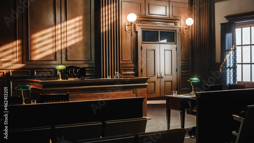Canvas-taulu Empty American Style Courtroom