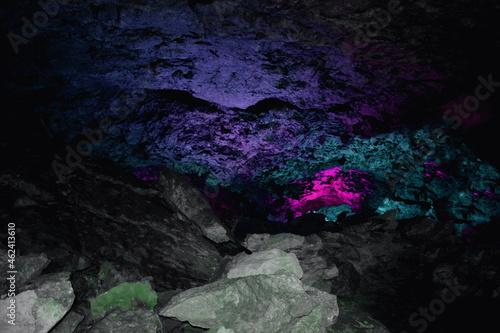 Obraz na plátně ice cave, cave grotto, rocks