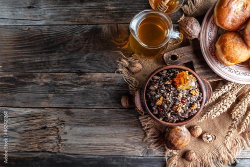 Obraz na plátně slavic dish kutia traditional Christmas food