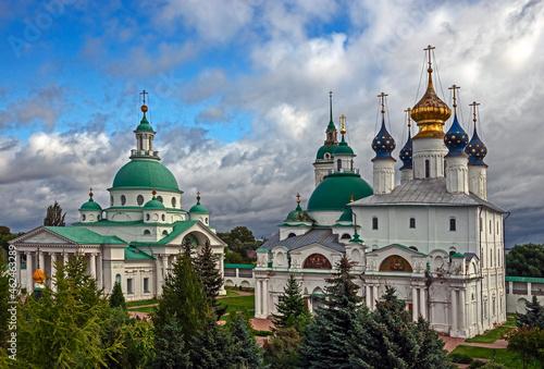 Fototapeta View to Spaso-Yakovlevsky monastery, city of Rostov, Russia