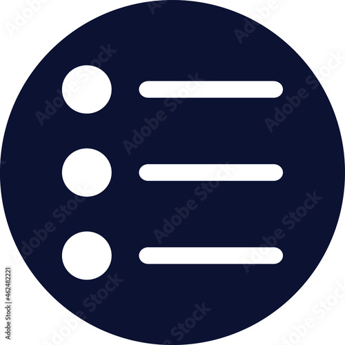 Fotografiet Bullets Isolated Vector icon which can easily modify or edit