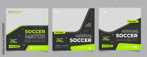 Tela social media post template for football competition