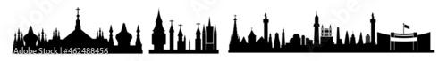 Foto silhouette of  church skyline