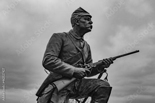 Closeup of First Pennsylvania Cavalry Monument, Gettysburg National Military Par Fototapet