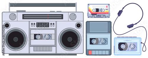 Fotografia Retro tape player