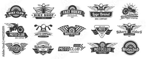 Canvastavla Biker club emblems