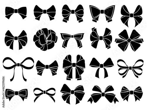 Billede på lærred Decorative bow silhouette