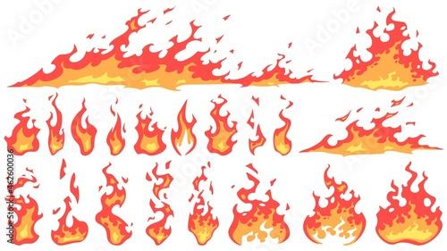 Tablou Canvas Cartoon fire flames