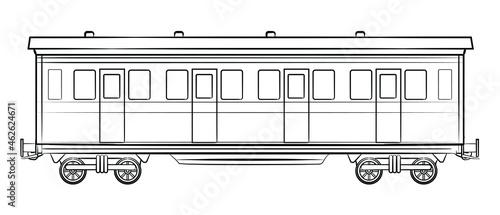 Photo Vintage style railroad car illustration.