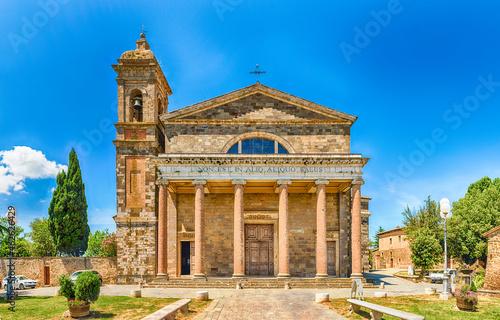 Fotografie, Obraz Facade of the Roman Catholic Cathedral of Montalcino, Italy