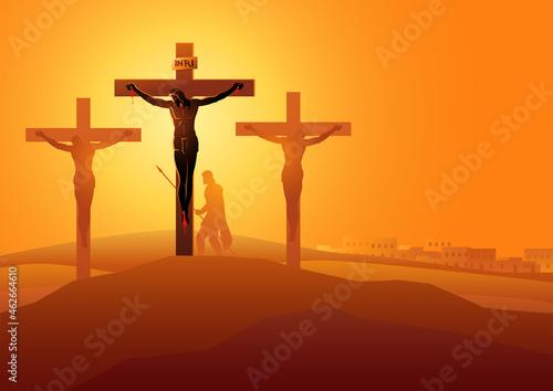 Fotografie, Obraz Jesus Dies On The Cross