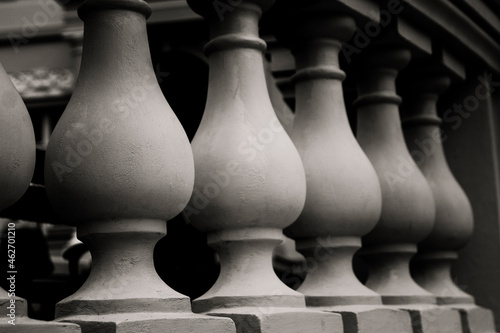 Cuadros en Lienzo black - white photo plaster balusters balustrade