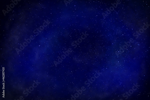 Wallpaper Mural Night blue background with stars