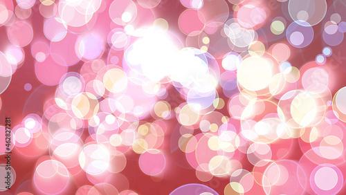 Foto Colorful red pink light bubble divine dimension bokeh blur absract