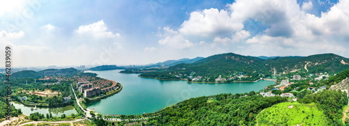 Guangzhou huadu of guangdong province scenery mountain and river view