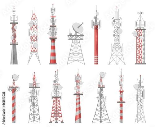 Billede på lærred Wireless towers