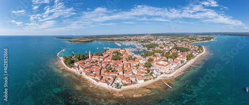 Fotografie, Obraz novigrad, drone, panorama, croatia, summer, city, istria, sea, town, church, adr