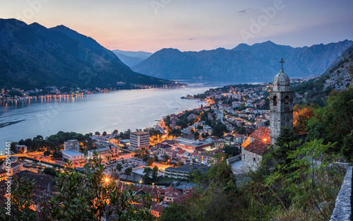Fototapeta The Church of Our Lady of Remedy is a Roman Catholic church located in Kotor, Montenegro, belonging to the Roman Catholic Diocese of Kotor