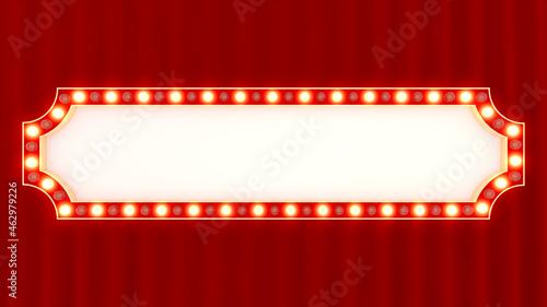 Foto 華やかな劇場の看板風背景 タイトルベース