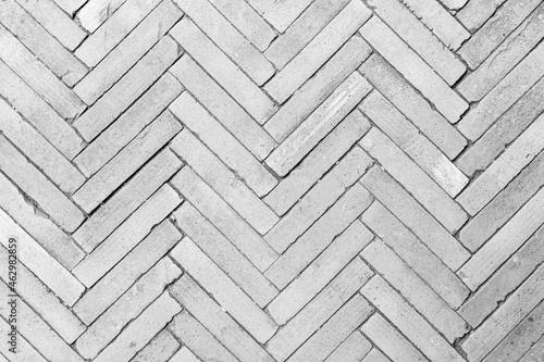 Canvas-taulu White brick floor texture background