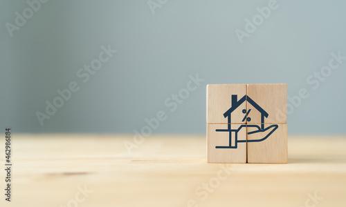 Fotografia Home loan, mortgage and buy a real estate concept