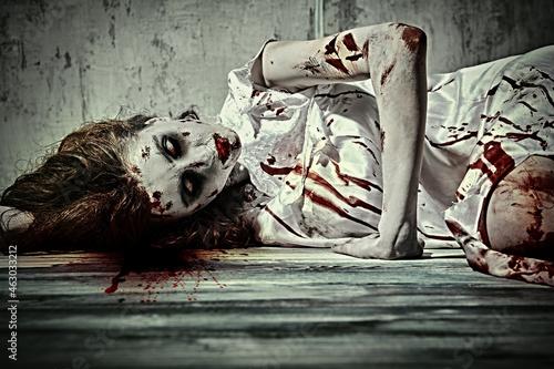 Obraz na plátně terrible disfigured woman