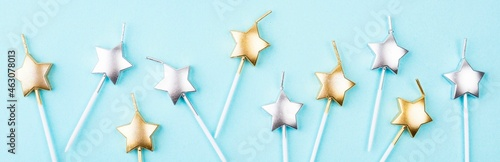 top view star shaped birthday candles Fototapet