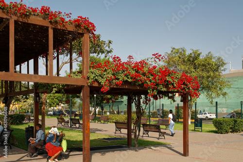 Fotografia, Obraz Parco de la Muralla tuż za historycznym centrum w Limy, stolicy Peru