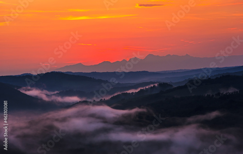 Tableau sur Toile La magia del tramonto