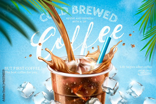 Fotografiet Cold brewed coffee ads