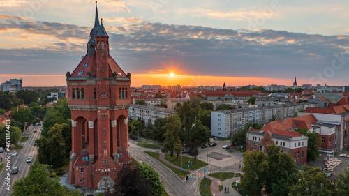 Wieża ciśnień, Borek, Krzyki, Wrocław, Polska, Poland